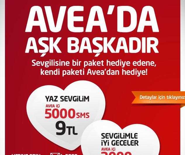 Avea'nın sevgililer mailing kampanyası